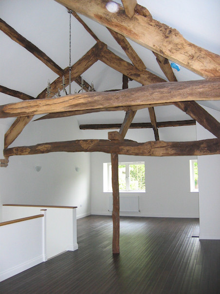 Exposed timbers