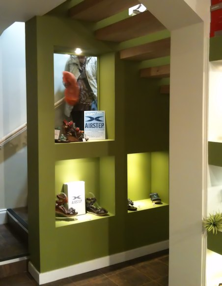 New staircase and display
