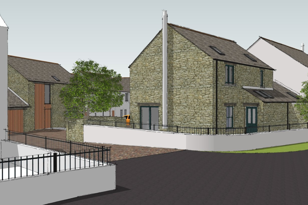 New development of 5 houses, Pardshaw - entrance